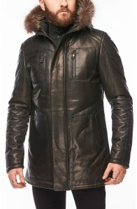 Чоловіча шкіряна куртка Primo Emporio
